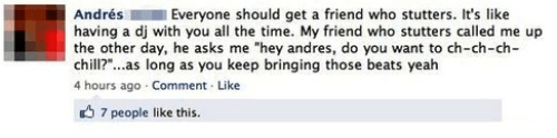 Funny Facebook Posts DJ Stutters