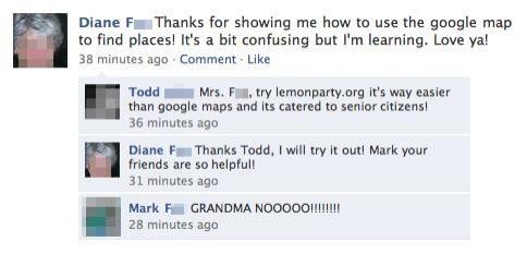 Grandma Lemon Party Facebook Post