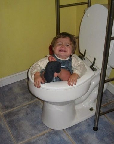 Funny Kid Photos Toilet