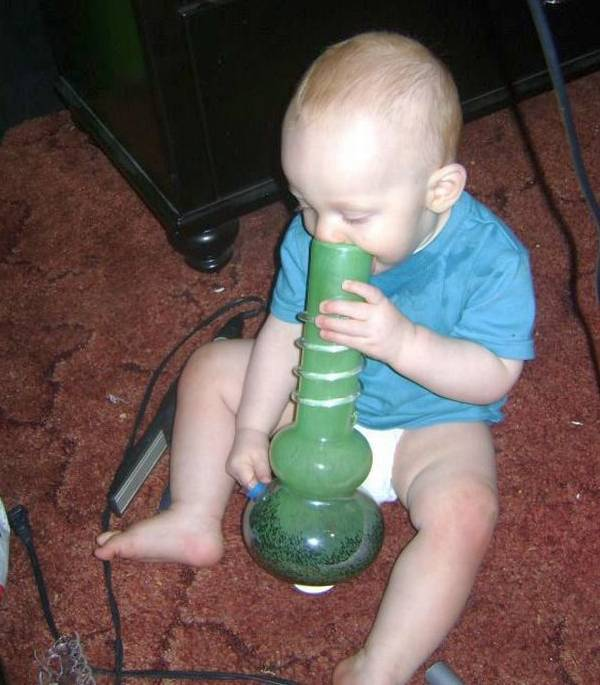 Baby Hitting The Bong