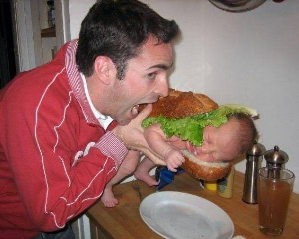 Terrible Parents Hamburger Baby