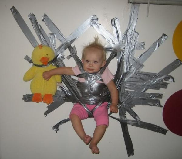 Terrible Parents Taped Baby