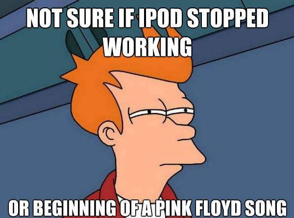 Futurama Fry On Dead iPod Or Pink Floyd