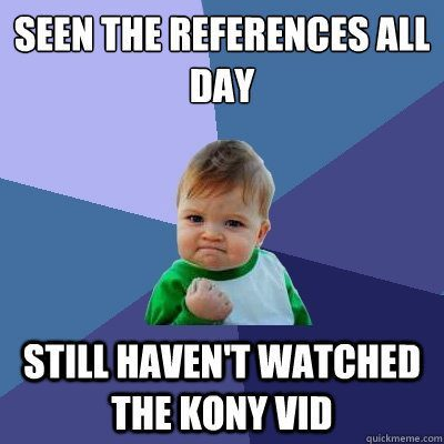 Success Kid Meme On Kony
