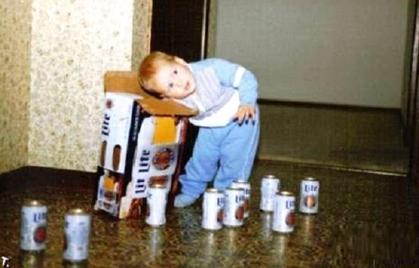 Terrible Parents Beer Kid