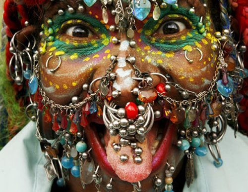 World's Body Worst Piercings Colorful