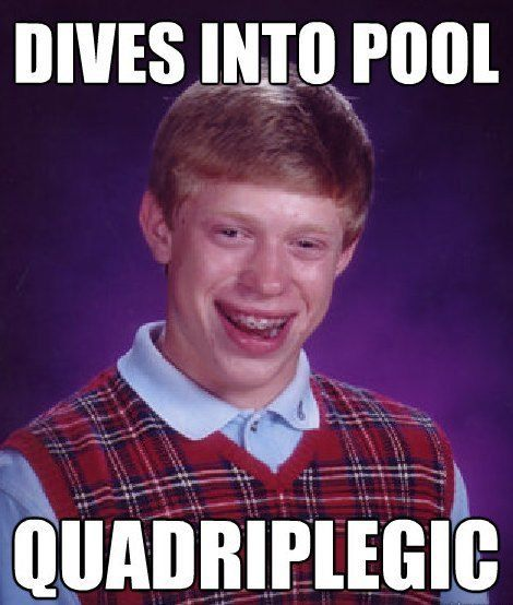 bad luck dive1 The Bad Luck Brian Meme