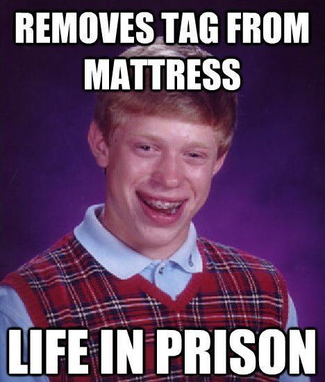 Bad Luck Brian Meme Mattress