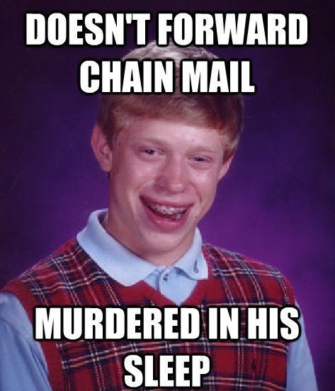 bad luck murder The Bad Luck Brian Meme