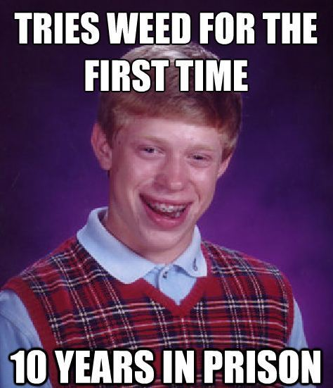 bad luck weed The Bad Luck Brian Meme