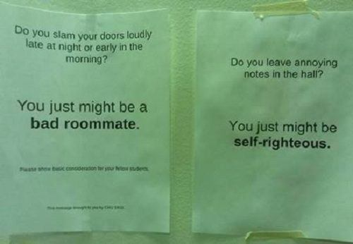 Annoying Notes In The Hall