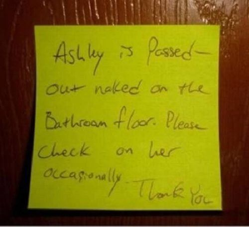 Funny Drunk Note