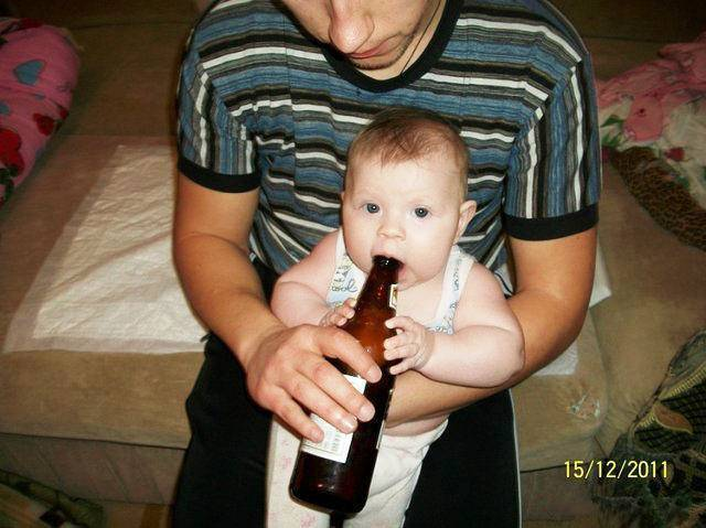 How Not To Raise Children Baby With Beer