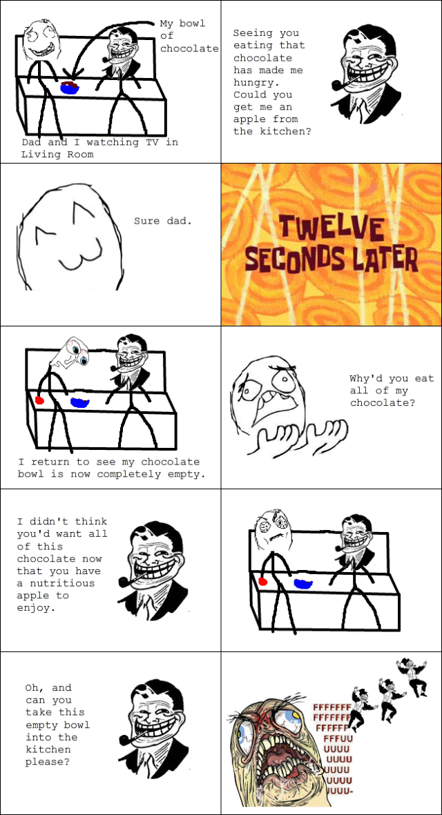 Troll Dad Snack Rage Comics