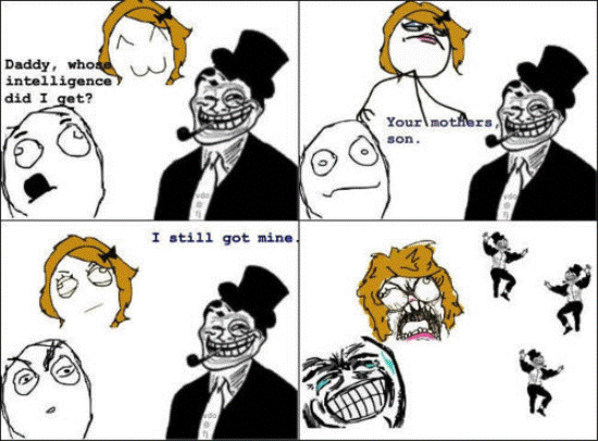 Funniest Troll Dad Rage Comics