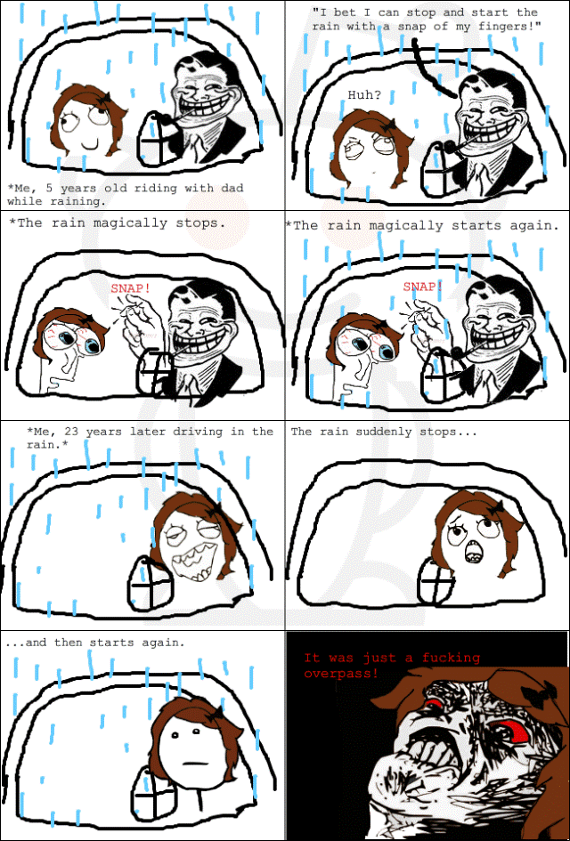 Troll Dad Does Rain Magic Comic