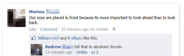 Lincoln Burn Facebook Status