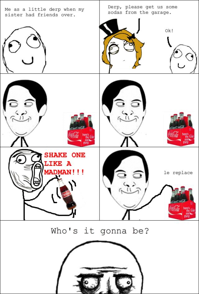 Rage Cartoons Soda Shake