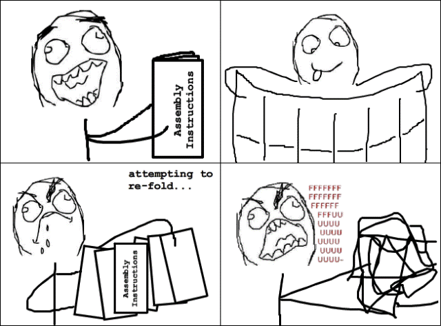 Four Panel Rage Comic Foldable Instructions Rage