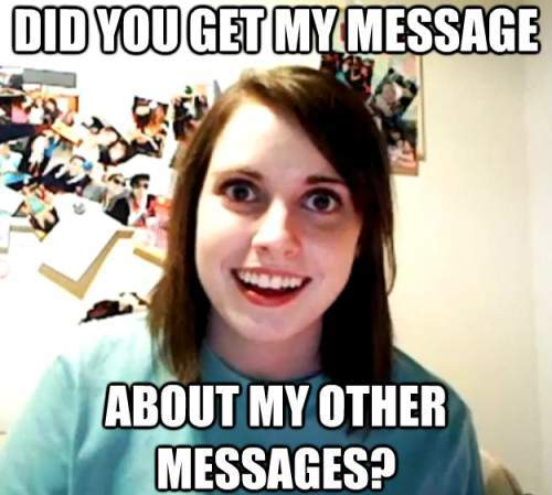Text Messaging With An Overly Attached Girlfriend