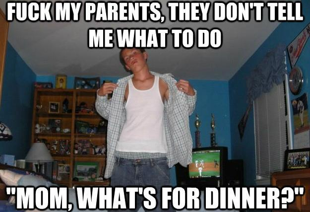 Suburban Hardass Meme Parents
