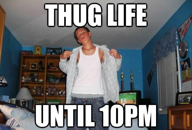 Suburban Hardass Meme Thug Life