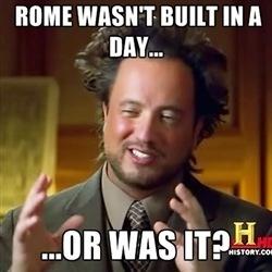 Aliens Man Meme Rome