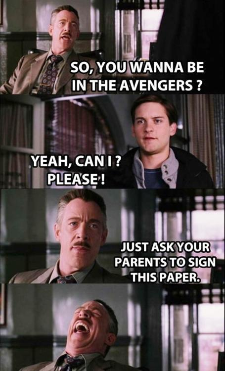 Spidey Joins The Avengers