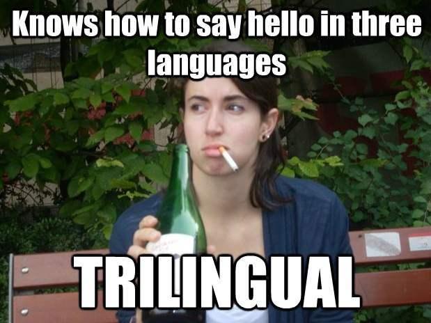 Abroad Bitch Meme trilingual