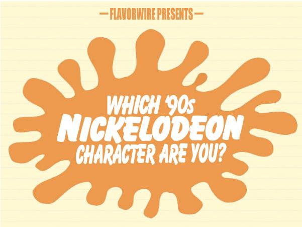 Flavorwire 90's Nickelodeon Character Flowchat