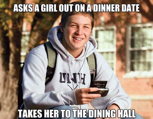 Asks A Girl Out To The Dining Hall