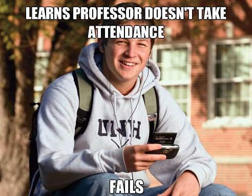 College Freshman Memes Fails A Class