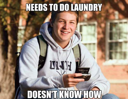 College Freshman Doesn't Know How To Do Laundry