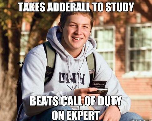 College Student Taking Adderall