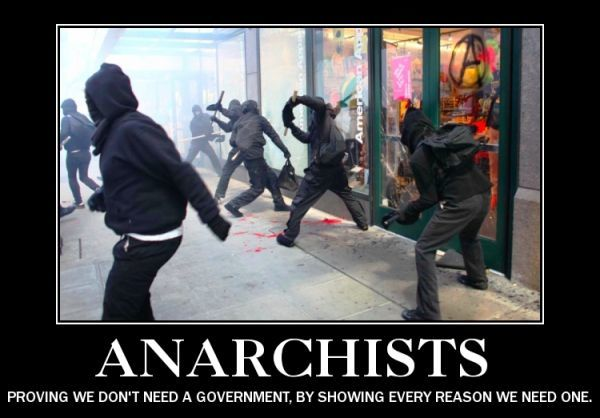 Demotivational Poster About Anarchists