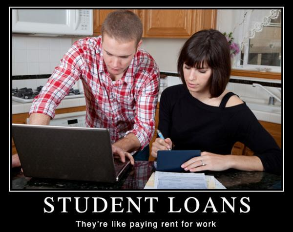 Funny Poster About Student Loans