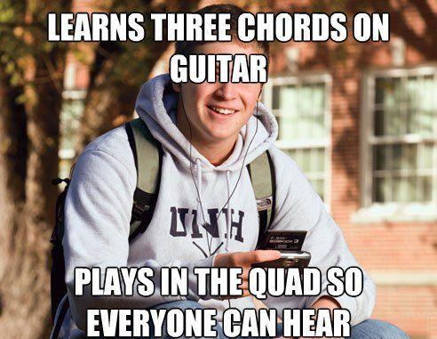 Learns Guitar