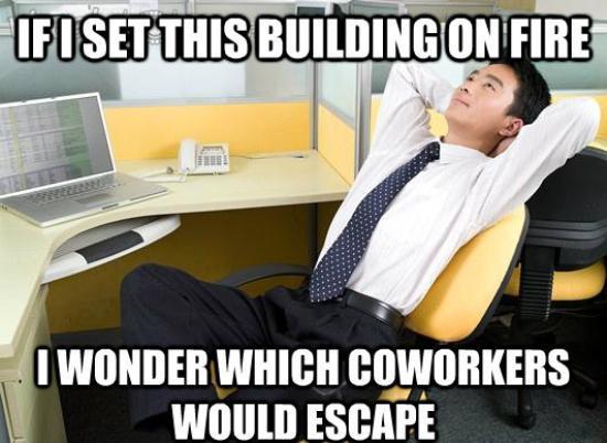 Office Meme Building on Fire