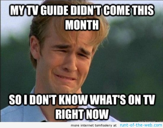 90s Problems TV Guide