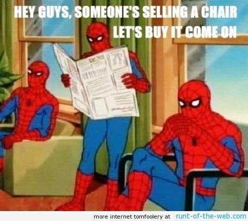 Spider-Man Meme Chair