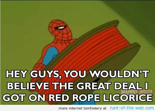 Spider-Man Meme Rope Licorice