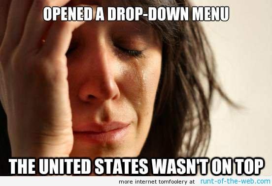 Drop Down Menu Problems