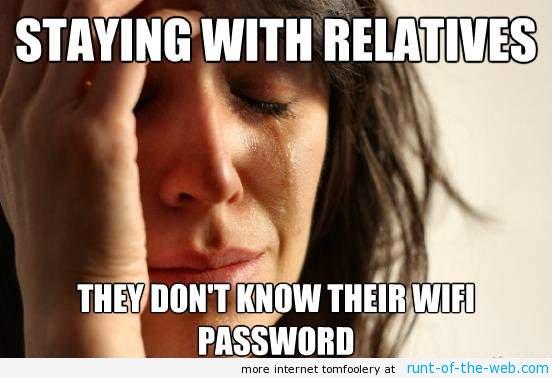 Don't Know Their Wifi Password