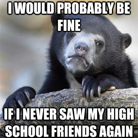 Bear Meme High School Friends