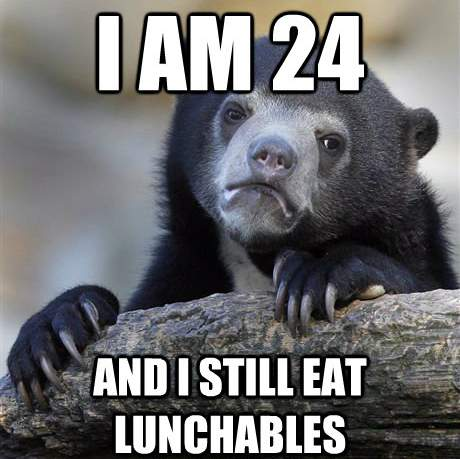 Confession Meme Lunchables