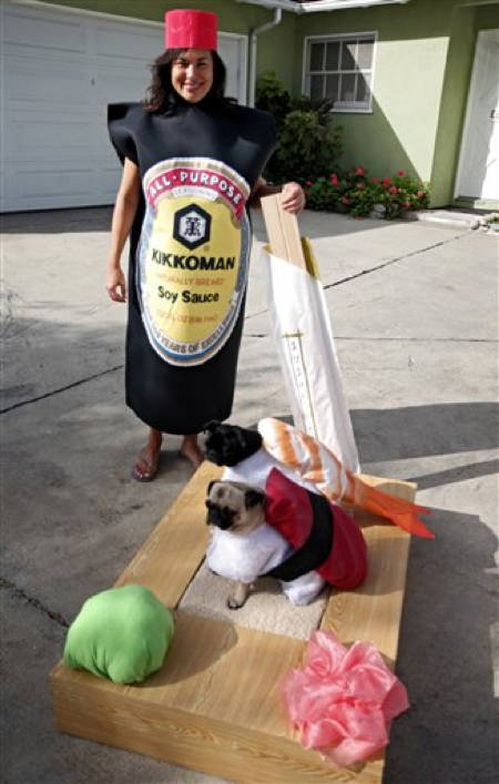 Funny Halloween Pugs Sushi Roll
