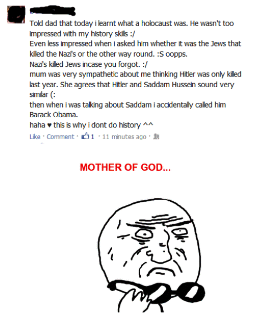 A Very Stupid Facebook Post On History
