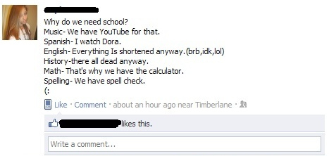 stupidest facebook posts school The Most Face Palmingly Stupid Facebook Posts