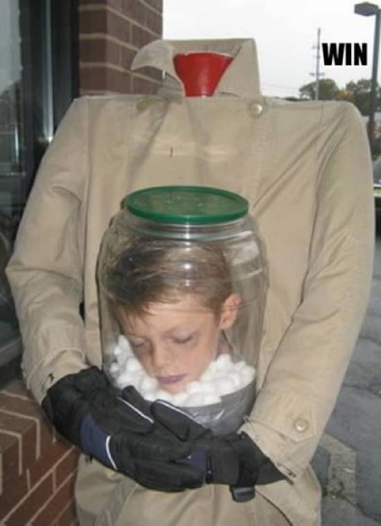 Head in a Jar Halloween Costumes