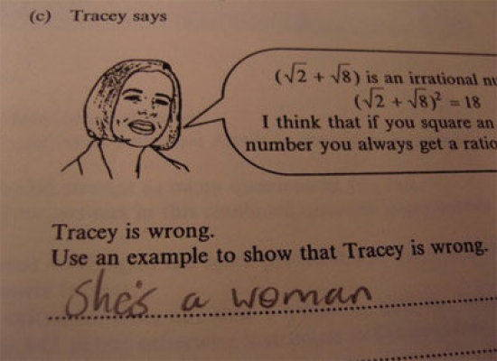 bad exam answers woman Amazingly Bad Exam Answers